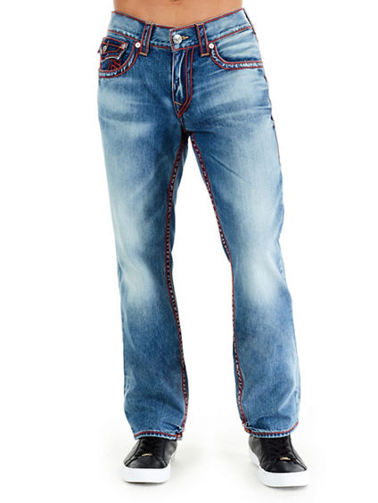 STRAIGHT FLAP CHAINSTCH MENS JEAN