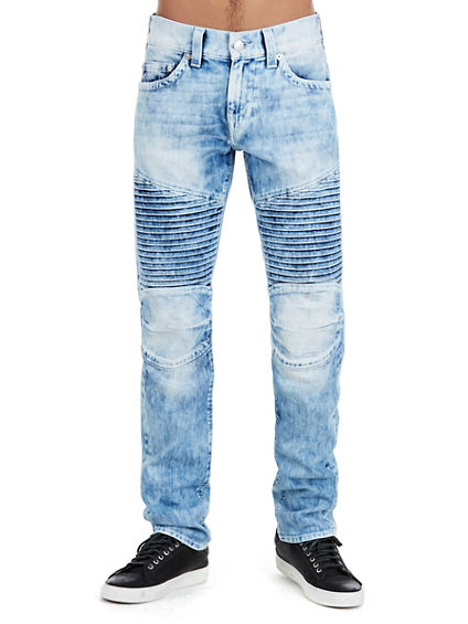 MENS PLEATED MOTO SKINNY PANT