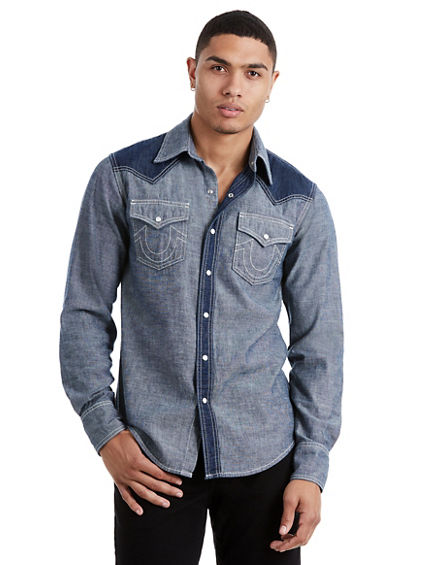 NATURAL WESTERN MENS SHIRT