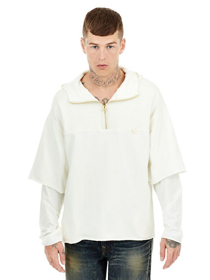 DOUBLE LAYER MENS PULLOVER