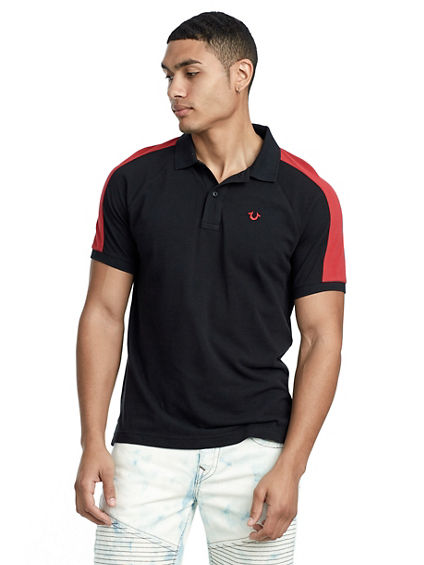 RAGLAN PANEL POLO SHIRT