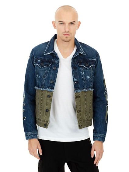 GRAFFITI PRINT DANNY DENIM  MENS JACKET