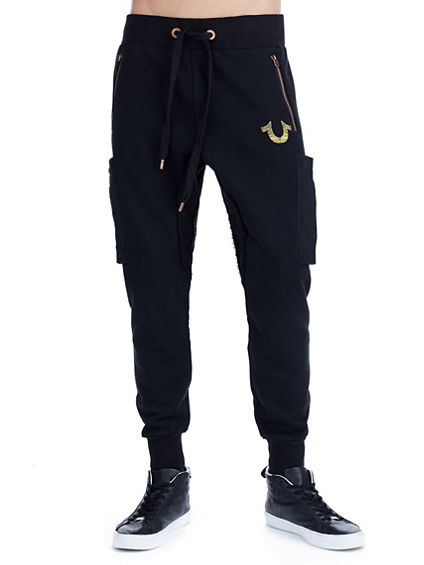 METALLIC CIRCUITZ HORSESHOE MENS SWEATPANT