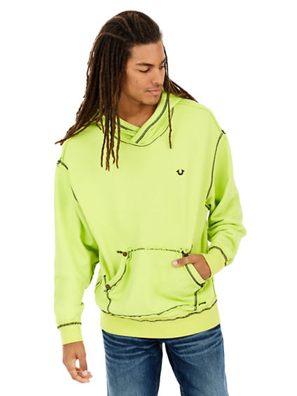 DROP SHOULDER PULLOVER MENS HOODIE