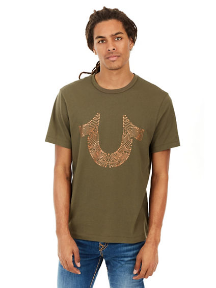 METALLIC CIRCUITZ HORSESHOE MENS TEE