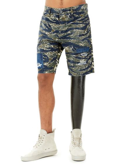 MENS MIXED CAMO LOGAN SLIM SHORT