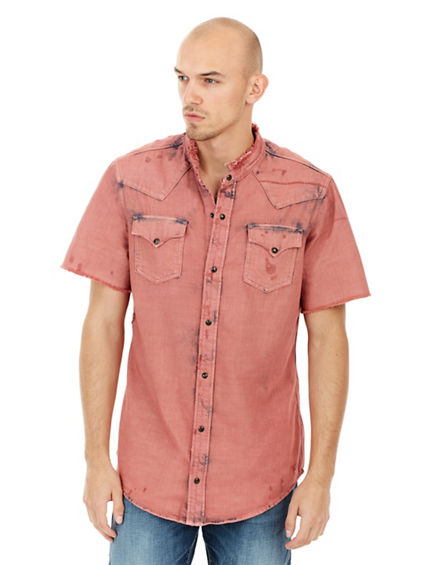 ELONGATED WESTERN MENS SHIRT
