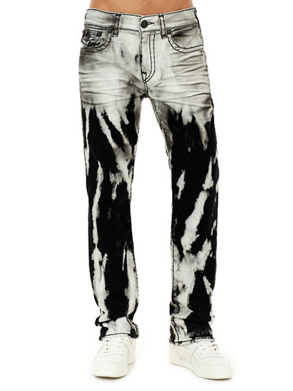 MENS BLEACHED SUPER T RICKY STRAIGHT JEAN W/ FLAP
