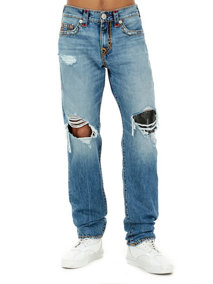 DISTRESSED GENO SUPER T MENS JEAN