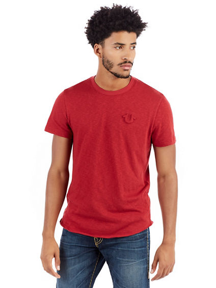 EMBOSSED LOGO ELONGATED MENS TEE