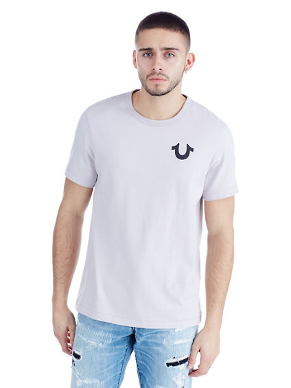 METALLIC BRANDED MENS TEE