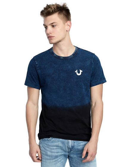 MENS INDIGO TWO TONE OMBRE TEE