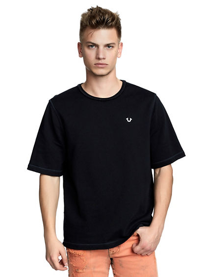 MENS OVERSIZED RAW EDGE TEE