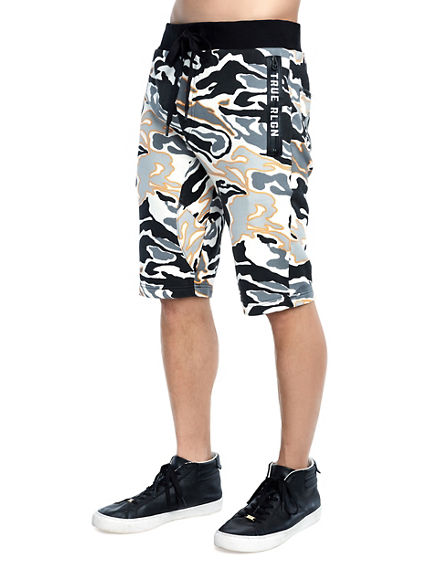 MENS CAMO SWEAT SHORT