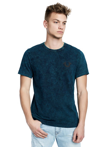 MENS WASHED INDIGO TEE