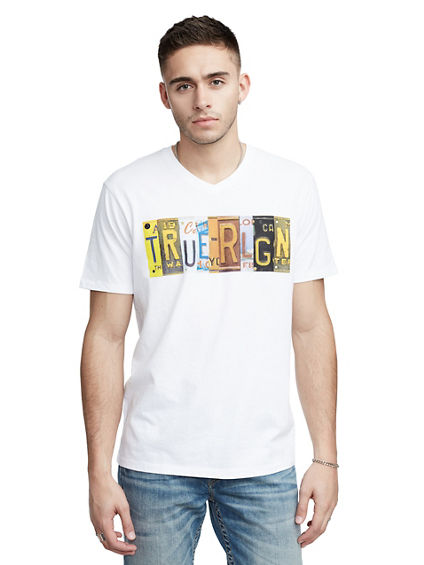 TRUE RELIGION PLATE V NECK TEE