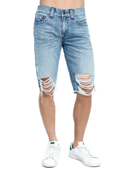 MENS DISTRESSED RICKY SHORT