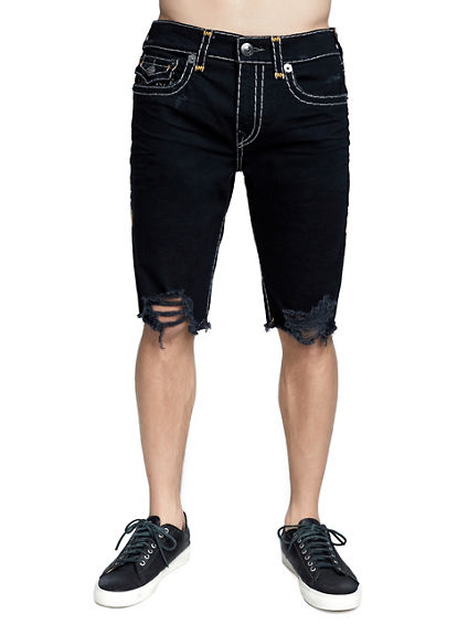 MENS DISTRESSED SUPER T RICKY SHORT