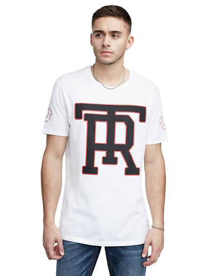 TR MONOGRAM ELONGATED TEE