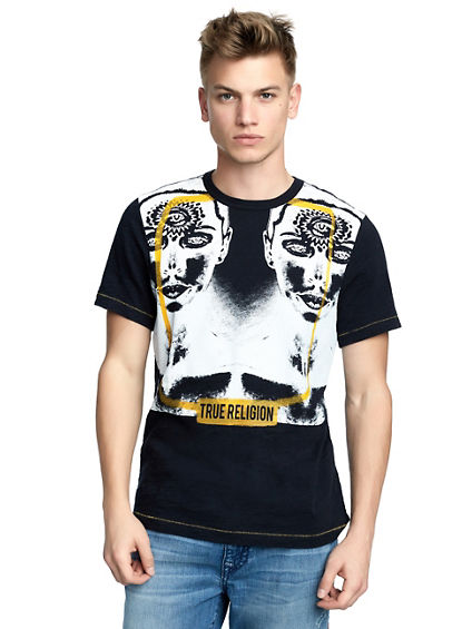 MENS TWO FACED GRAPHIC TEE