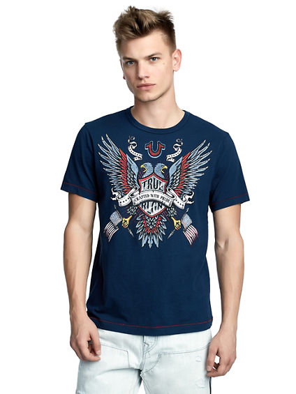 MENS AMERICANA EAGLE GRAPHIC TEE