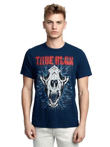 MENS HYENA SKULL GRAPHIC TEE