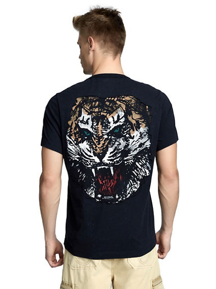 MENS WASHED TIGER TEE