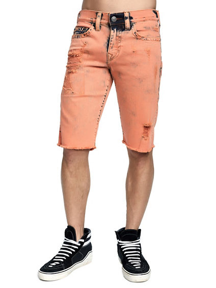 MENS DISTRESSED RICKY STRAIGHT SHORT