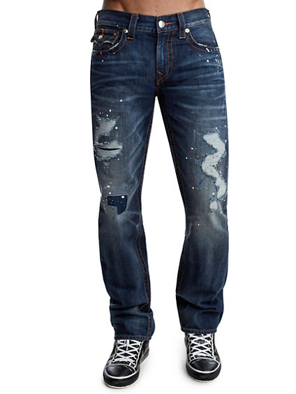 STRAIGHT FIT DISTRESSED JEAN