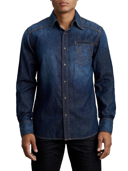 MIDNIGHT DENIM WESTERN SHIRT