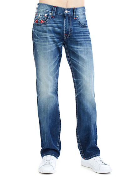 NATURAL RED REVERSE U STRAIGHT W/FLAP MENS JEAN