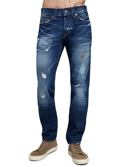 MENS DISTRESSED ROCCO SKINNY JEAN