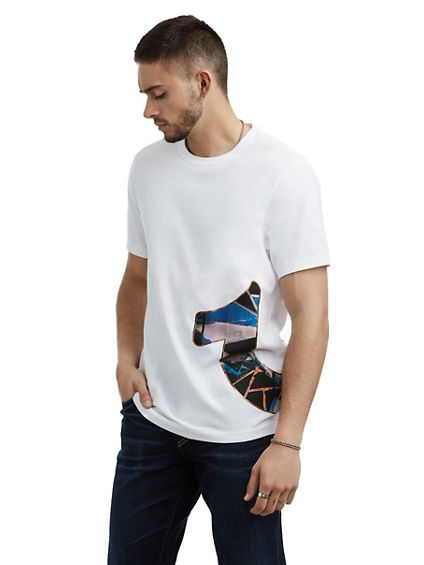 MENS STAINED GLASS LOGO TEE