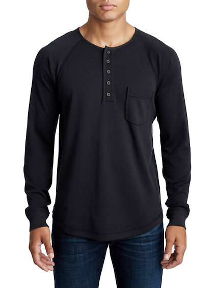 MENS RAGLAN LONG SLEEVE HENLEY