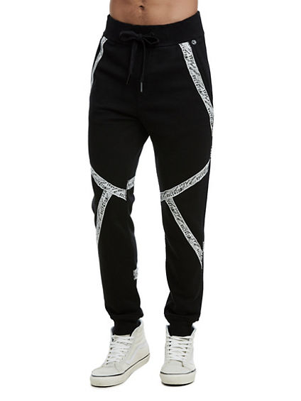 MENS QT STITCH SPORT TAPE SLIM SWEATPANT
