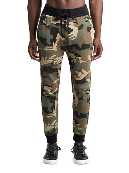 MENS BIG T CAMO SLIM SWEATPANT