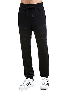 MENS CONTRAST STITCH COATED SWEATPANT
