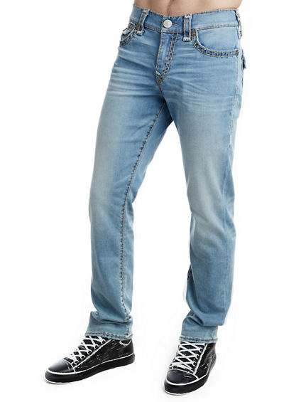 MENS STRETCH SUPER T RICKY STRAIGHT JEAN W/ FLAP