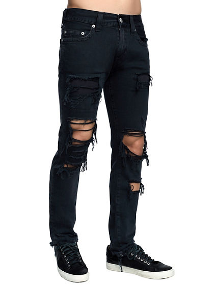 MENS DESTROYED ROCCO SKINNY JEAN