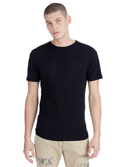 MENS MESH HORSESHOE TEE