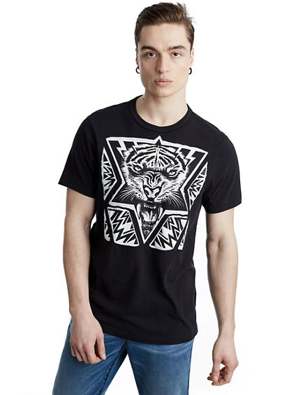 LASER CUT TIGER MENS TEE