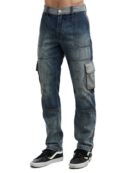 MENS GARAGE DENIM CARGO JEAN