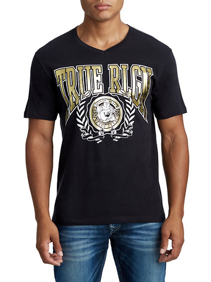 MENS COLLEGE LAUREL WREATH GRAPHIC TEE