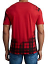 MENS FADE PLAID LOGO TEE