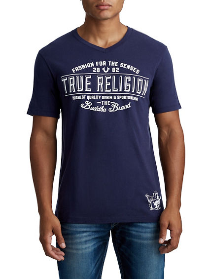 MENS COLLEGIATE BUDDHA GRAPHIC TEE
