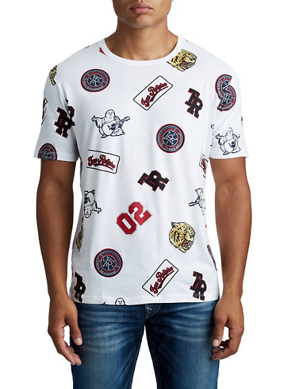 MENS MONOGRAM VARSITY PATCH GRAPHIC TEE