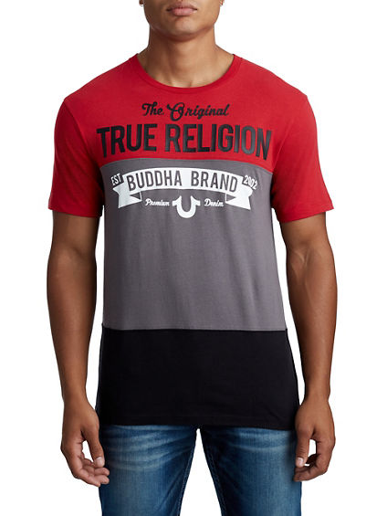 MENS SPLIT BUDDHA GRAPHIC TEE