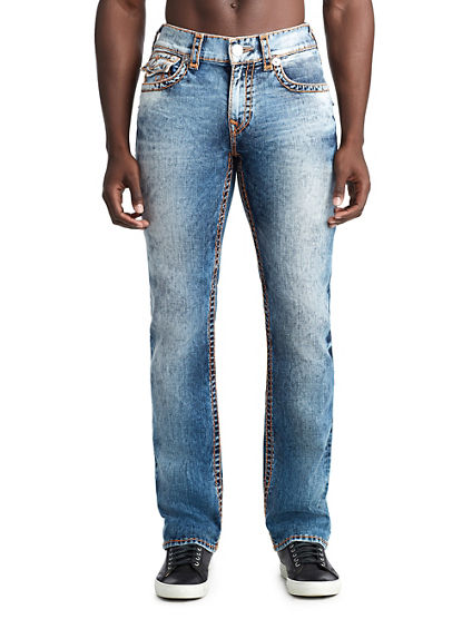 MENS CONTRAST SUPER T STRAIGHT JEAN W/ FLAP