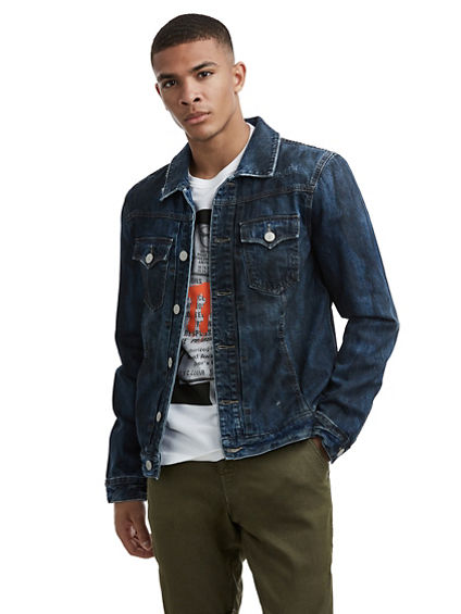 MENS DISTRESSED DYLAN DENIM JACKET
