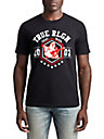 MENS FLOCKED ATHLETIC GRAPHIC TEE